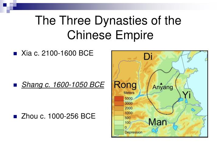 The three dynasties of the chinese empire