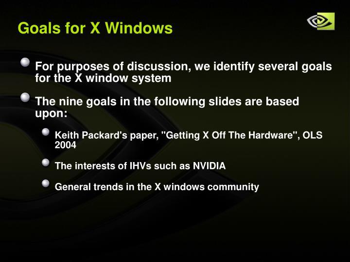 Goals for X Windows