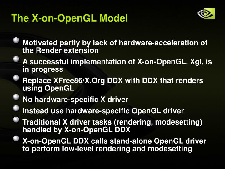 The X-on-OpenGL Model