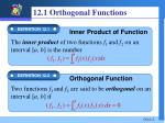 12 1 orthogonal functions