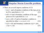 singular sturm liouville problem