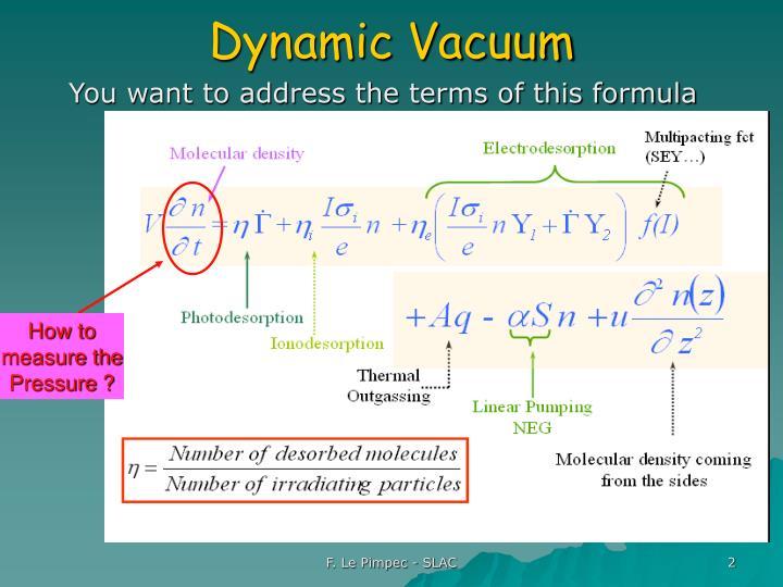Dynamic Vacuum