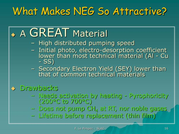 What Makes NEG So Attractive?