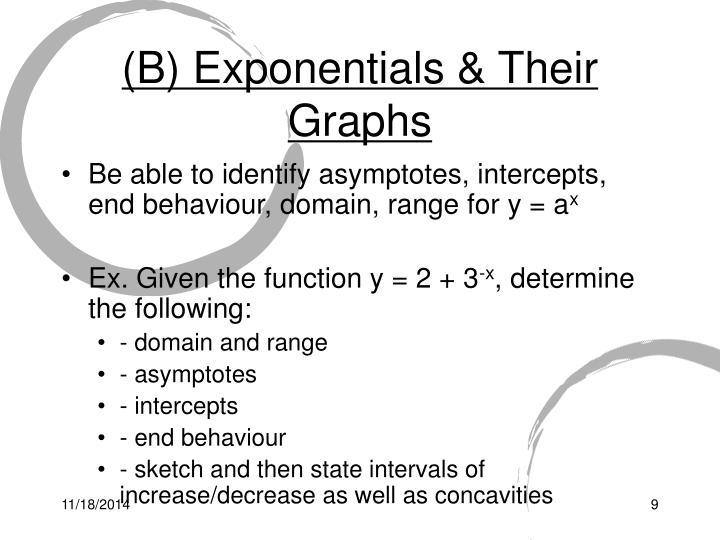 (B) Exponentials & Their Graphs