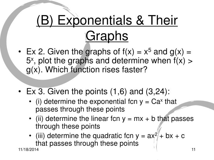 (B) Exponentials & Their Graphs