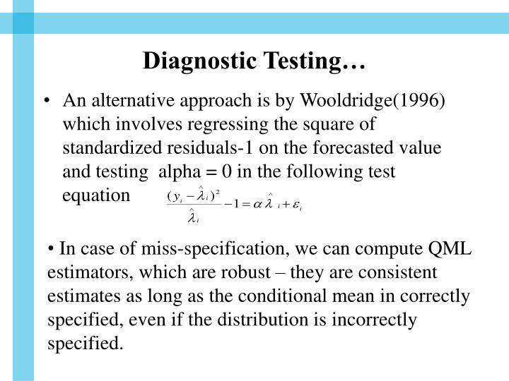 Diagnostic Testing…