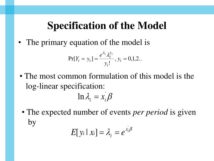 Specification of the Model