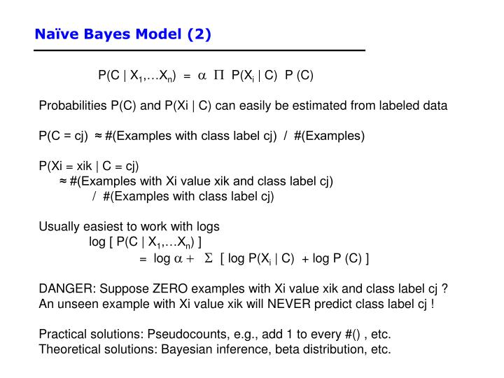 Naïve Bayes Model (2)