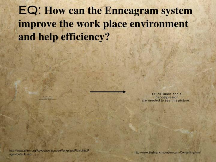 Eq how can the enneagram system improve the work place environment and help efficiency