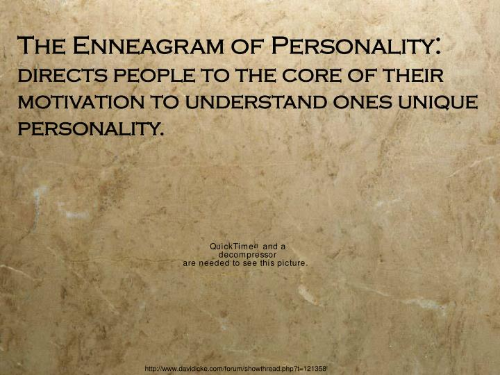 The Enneagram of Personality