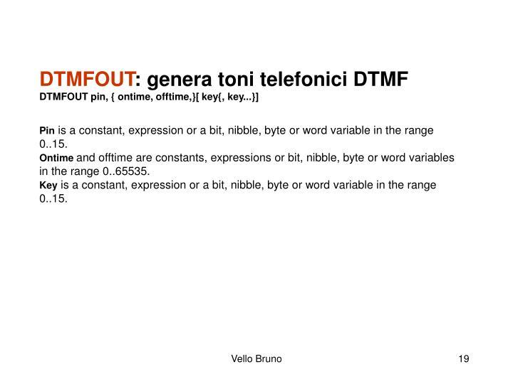 DTMFOUT