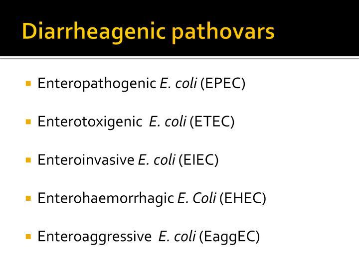 Diarrheagenic