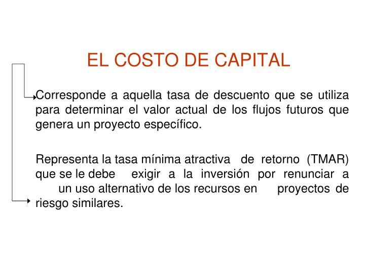 EL COSTO DE CAPITAL