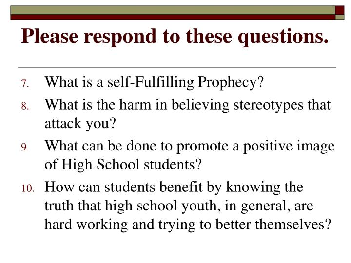 Please respond to these questions1