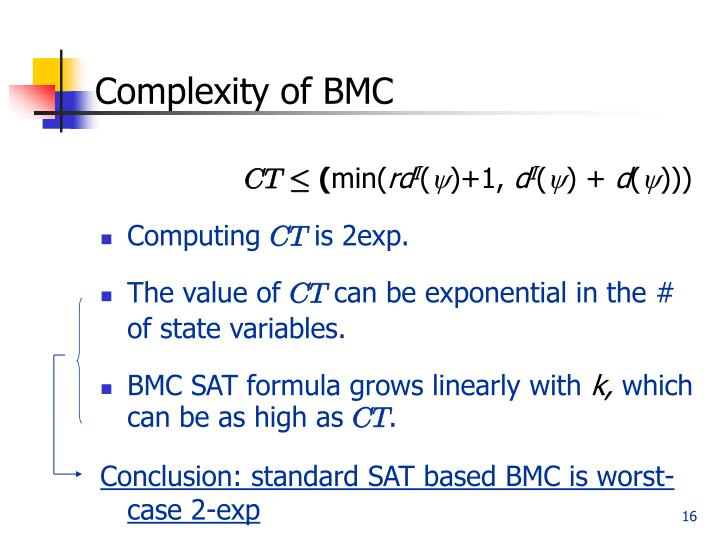 Complexity of BMC