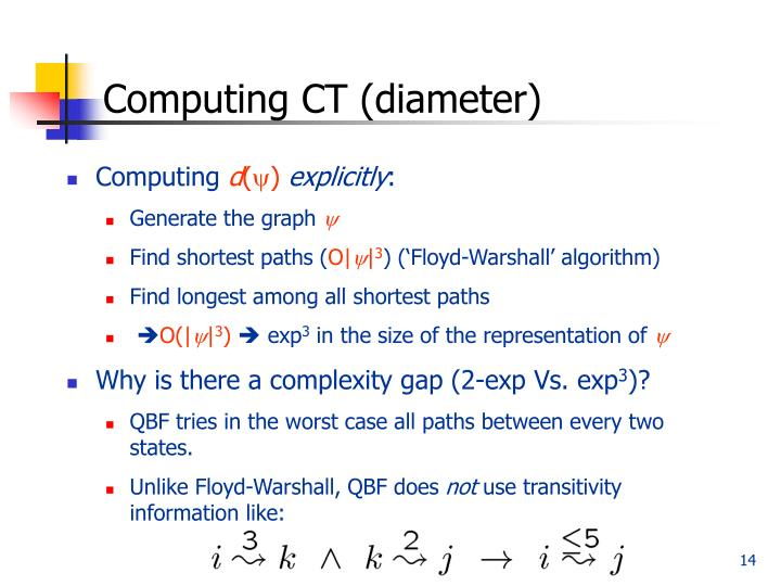 Computing CT (diameter)