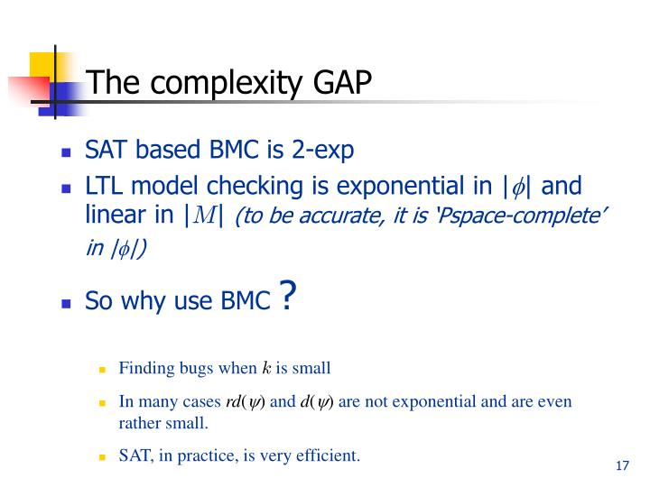 The complexity GAP