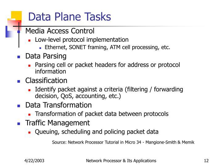 Data Plane Tasks