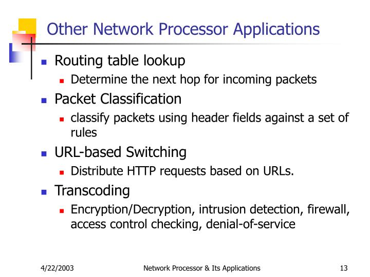Other Network Processor Applications