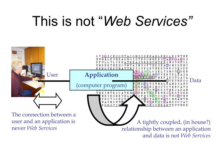 This is not web services