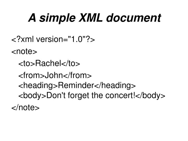 A simple XML document