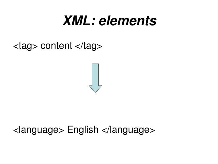 XML: elements