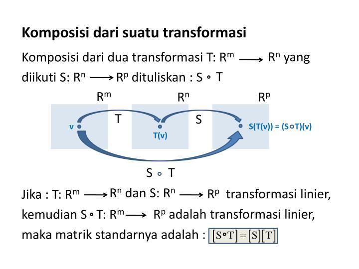 Komposisi dari suatu transformasi