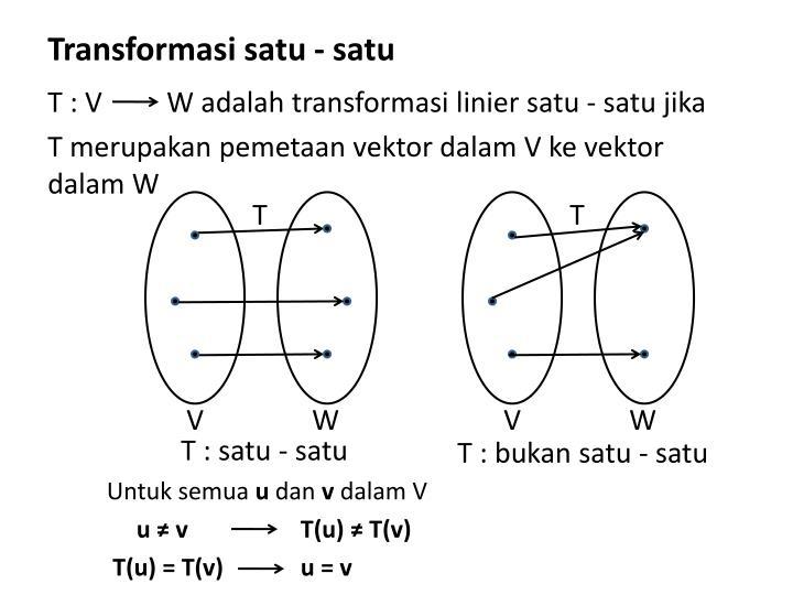 Transformasi satu - satu