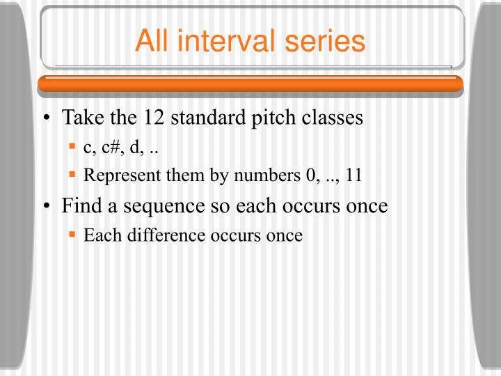 All interval series