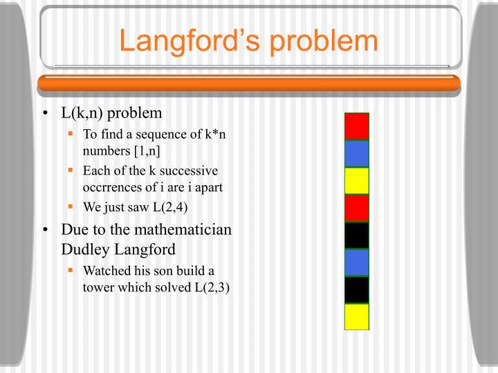 Langford's problem