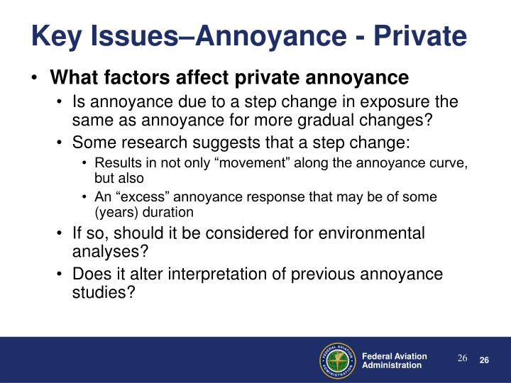 What factors affect private annoyance