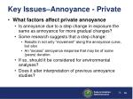 key issues annoyance private3