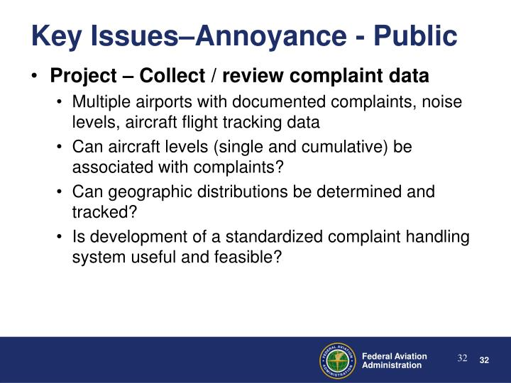 Project – Collect / review complaint data