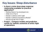 key issues sleep disturbance1