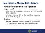 key issues sleep disturbance3