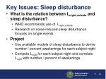 key issues sleep disturbance4
