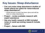 key issues sleep disturbance5