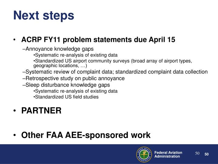 ACRP FY11 problem statements due April 15
