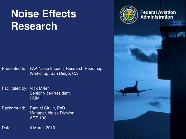 Noise effects research