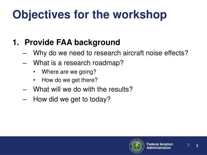 Provide FAA background