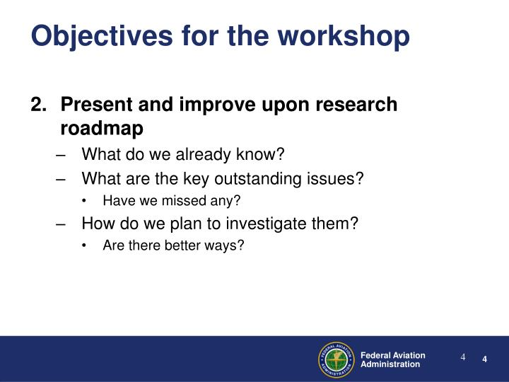 Present and improve upon research roadmap
