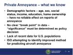 private annoyance what we know1