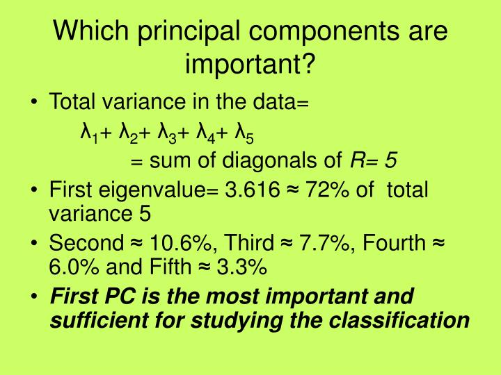 Which principal components are important?