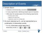 description of events1