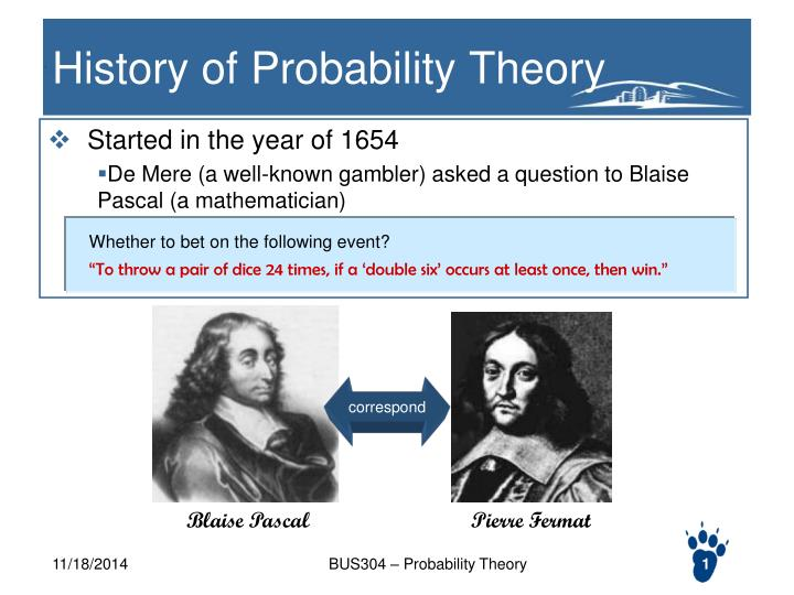 history of probability theory