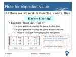 rule for expected value