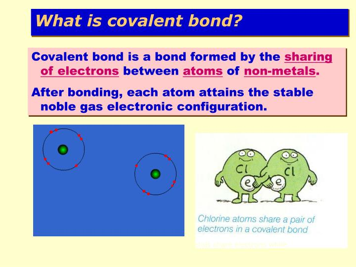What is covalent bond?