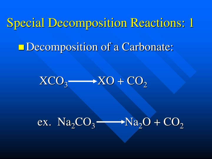 Special Decomposition Reactions: 1