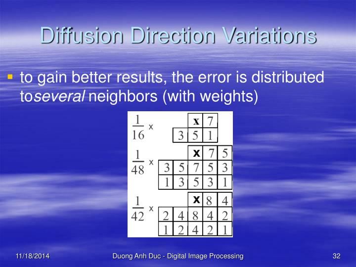 Diffusion Direction Variations