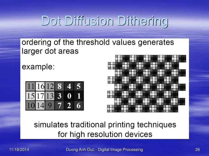 Dot Diffusion Dithering